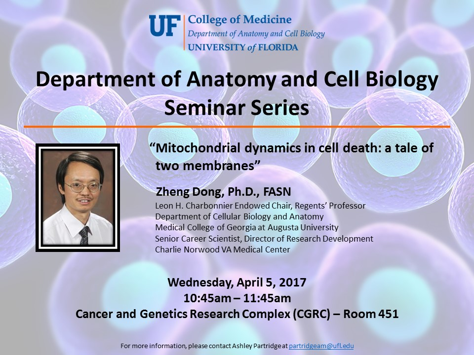Seminar Series » Department of Anatomy and Cell Biology » College of ...
